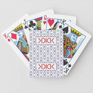 KDICK Playing Cards. Blue Back/Red Logo. Bicycle. Bicycle Playing Cards