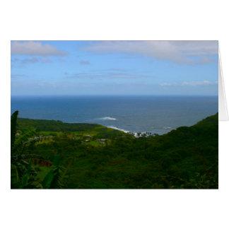 Ke'anae Peninsula, Maui Greeting Card