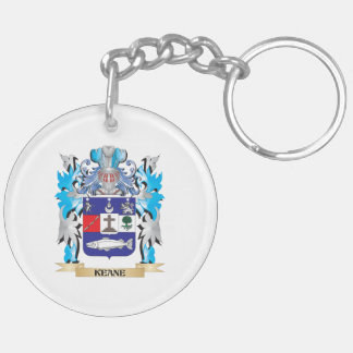 Keane Coat of Arms - Family Crest Double-Sided Round Acrylic Key Ring