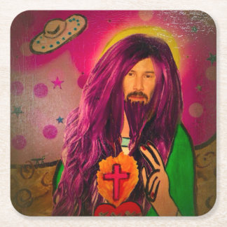 Keanu Jesus Coasters Antique Look