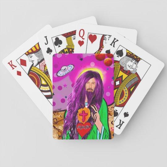 Keanu Jesus Playing Cards