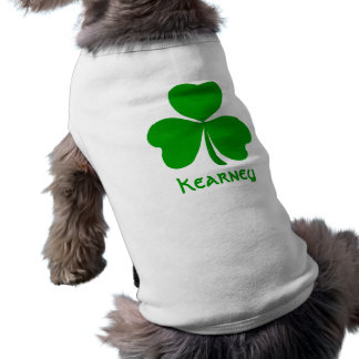 Kearney Irish Shamrock Name Sleeveless Dog Shirt