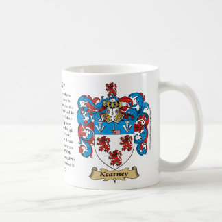 Kearney, the Origin, the Meaning and the Crest Basic White Mug