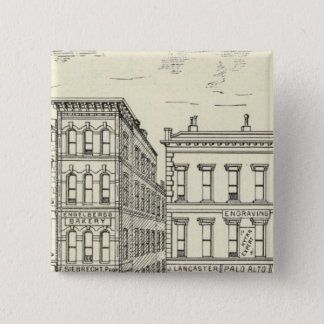 Kearny, Pine and California East Side 15 Cm Square Badge