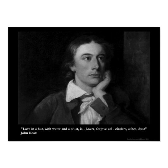 Keats Love/Hut Quote On Collectable Art Posters