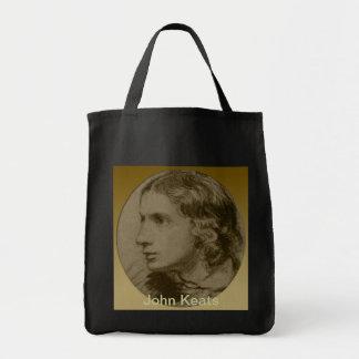 Keats, the Romantic Poet Grocery Tote Bag