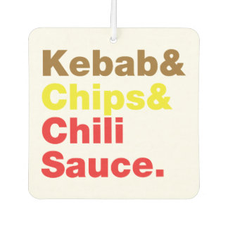 Kebab & Chips & Chili Sauce. Car Air Freshener