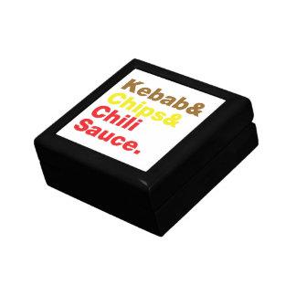 Kebab & Chips & Chili Sauce. Gift Box