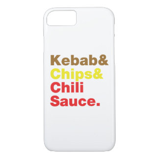 Kebab & Chips & Chili Sauce. iPhone 7 Case
