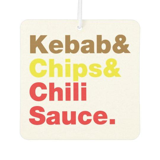 Kebab & Chips & Chilli Sauce. Car Air