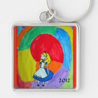 kechejian, Isabella Silver-Colored Square Key Ring