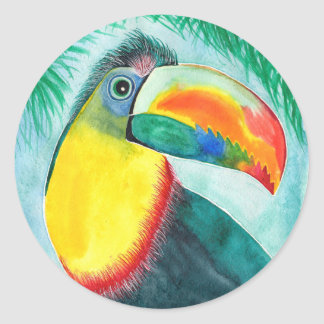 Keel-billed Toucan decorative stickers