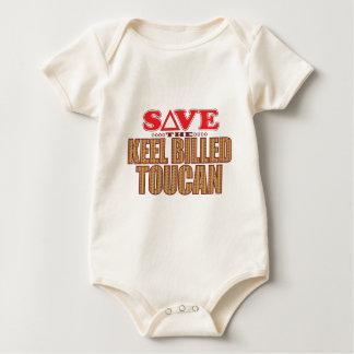 Keel Billed Toucan Save Baby Bodysuit