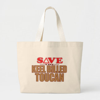 Keel Billed Toucan Save Large Tote Bag