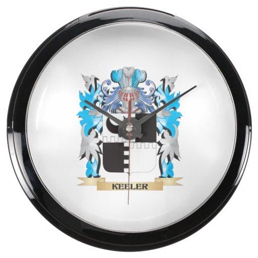 Keeler Coat of Arms - Family Crest Fish Tank Clock