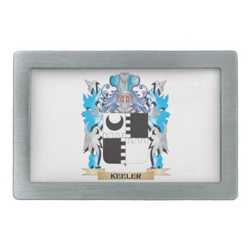 Keeler Coat of Arms - Family Crest Rectangular Belt Buckle