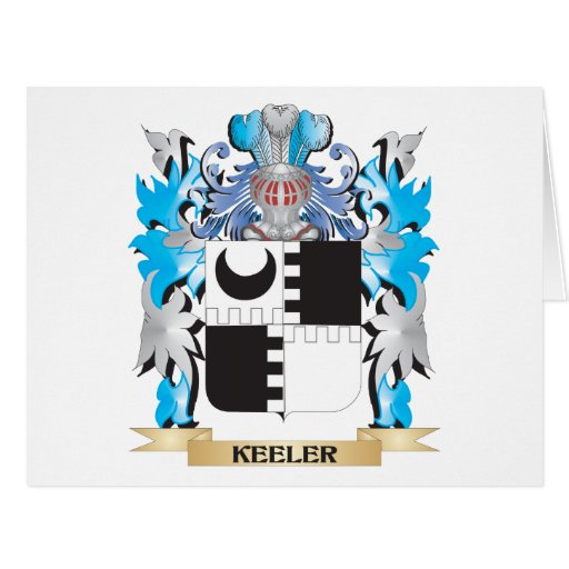 Keeler Coat of Arms - Family Crest Card