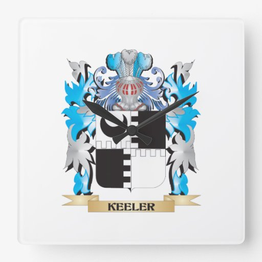 Keeler Coat of Arms - Family Crest Wall Clocks