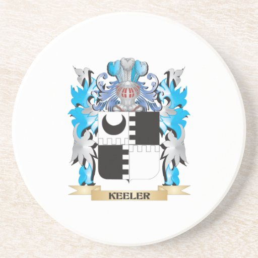 Keeler Coat of Arms - Family Crest Drink Coasters