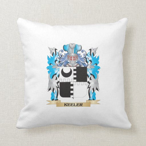 Keeler Coat of Arms - Family Crest Pillow