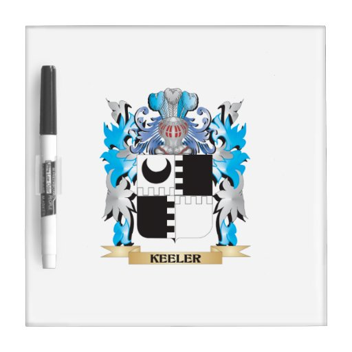 Keeler Coat of Arms - Family Crest Dry-Erase Board