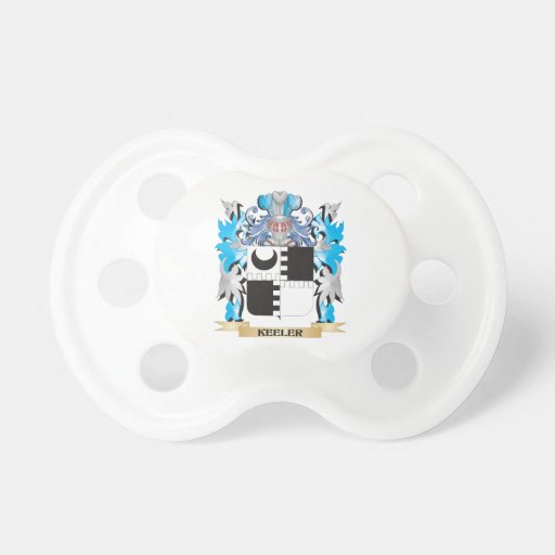 Keeler Coat of Arms - Family Crest Baby Pacifier