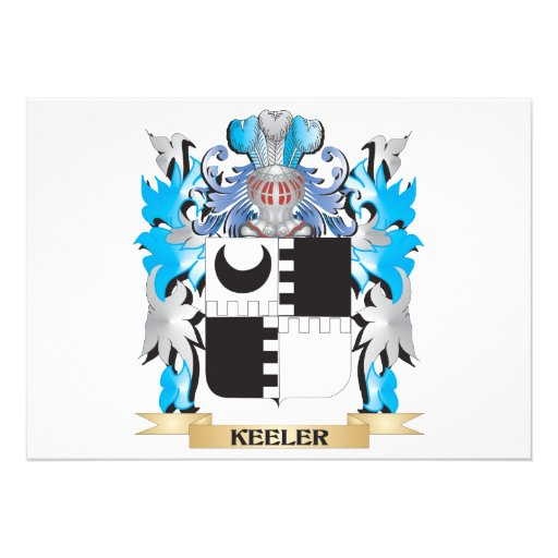 Keeler Coat of Arms - Family Crest Custom Announcement