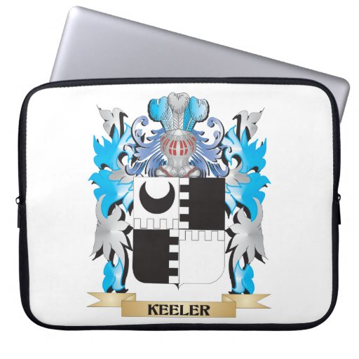 Keeler Coat of Arms - Family Crest Laptop Computer Sleeve