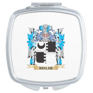 Keeler Coat of Arms - Family Crest Makeup Mirrors