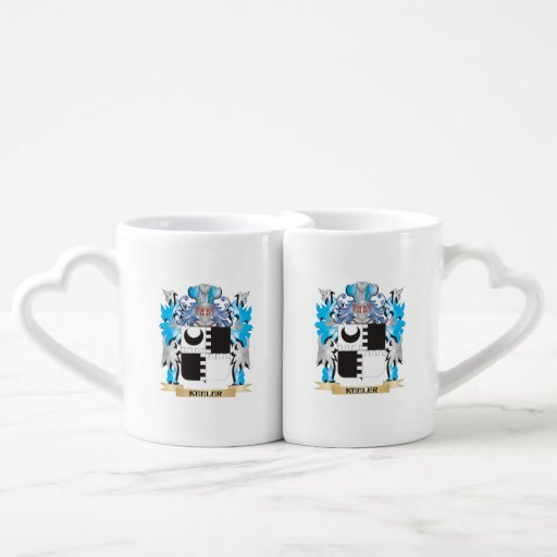 Keeler Coat of Arms - Family Crest Couple Mugs