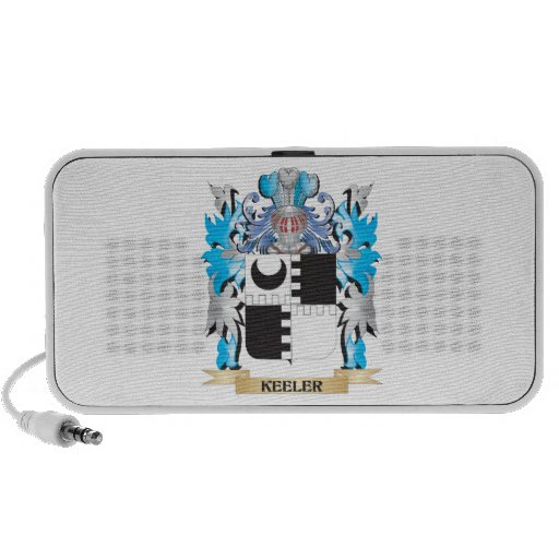 Keeler Coat of Arms - Family Crest Portable Speakers