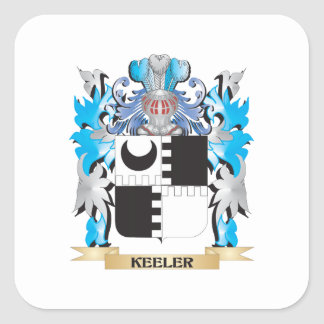 Keeler Coat of Arms - Family Crest Square Sticker