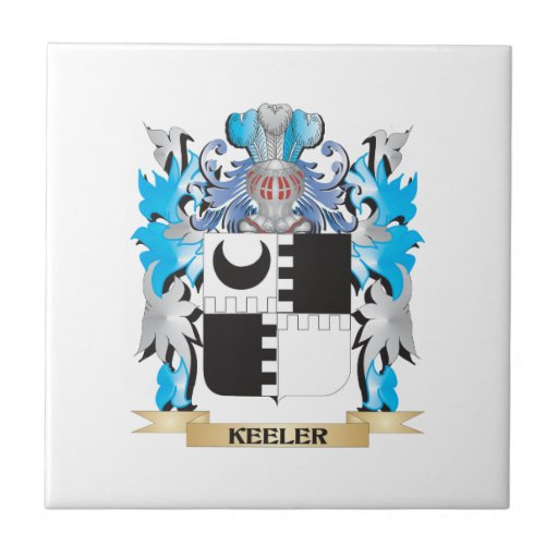 Keeler Coat of Arms - Family Crest Ceramic Tiles