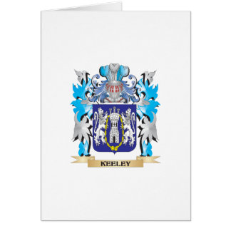 Keeley Coat of Arms - Family Crest Greeting Card