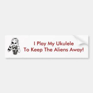 Keep Aliens Away Bumper Sticker