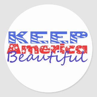 Keep America Beautiful Round Sticker