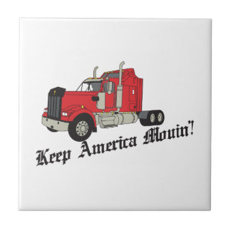 Keep America Movin! Small Square Tile