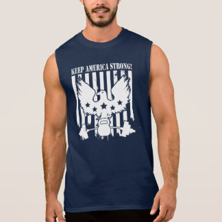 Keep America Strong (EAGLE, KETTLEBELL, BARBELL) Sleeveless T-shirts