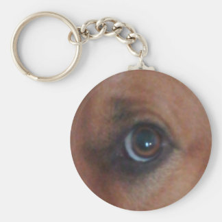 Keep An Eye On Your Keys Basic Round Button Key Ring