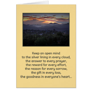 Keep an Open Mind...Religious Greeting Card