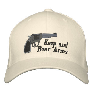 Keep and Bear Arms Second Amendment Embroidered Baseball Caps