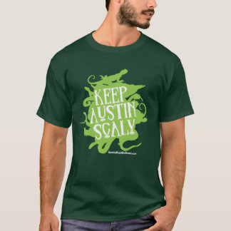 Keep Austin Scaly Lime and White T-Shirt