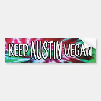 Keep Austin Vegan Bumper Sticker