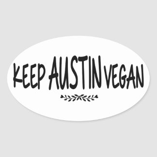 Keep Austin Vegan Oval Sticker