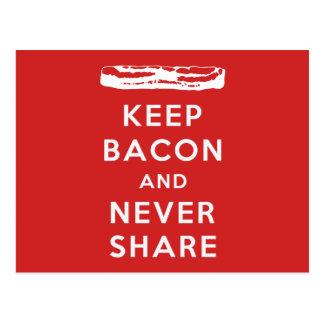 Keep Bacon And Never Share Postcard