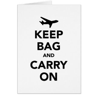 Keep Bag and Carry On Card