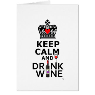 Keep Cakm and Drink Greeting Card