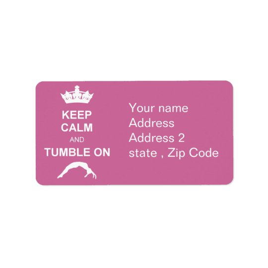 Keep cale and Tumble Address Label