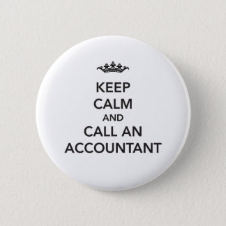 Keep Calm Accountant Button