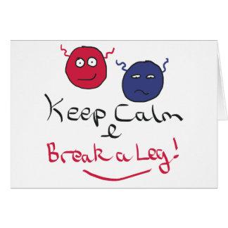 Keep Calm Acting Card